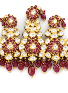 Sirpech Jadau Set with Uncut Diamonds and Rubies